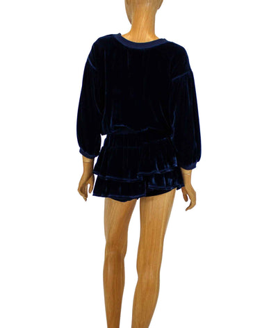 Velvet Romper with Silk Lining