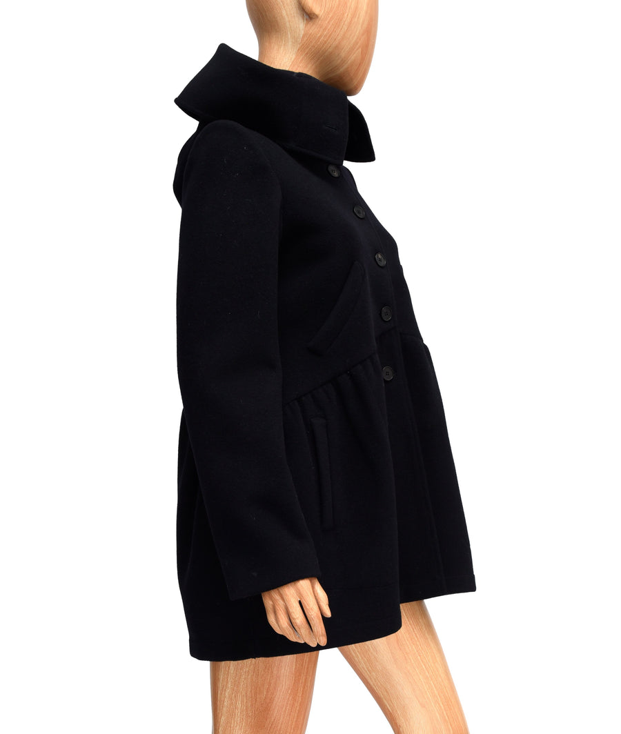 Wool Peacoat with Silk Lining