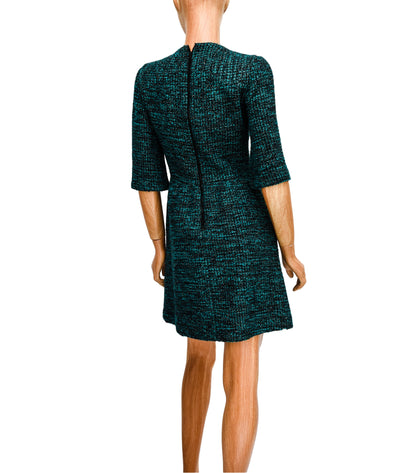 Woven Structured Dress with Metallic Details