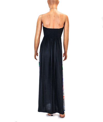 Silk Strapless Maxi Dress