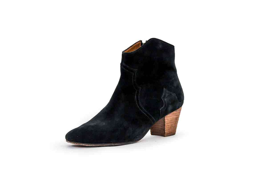 Black Suede Dicker Boots
