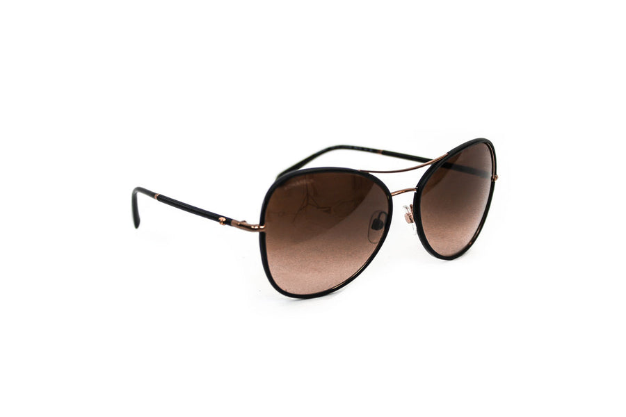 Pilot Aviator Leather Sunglasses