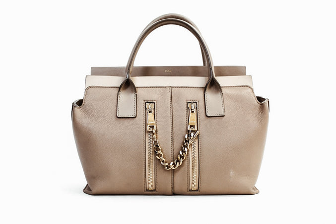 Medium Trapeze Leather Handbag with Removable Shoulder Strap