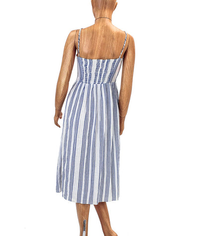 Spaghetti Strap Striped Midi Dress