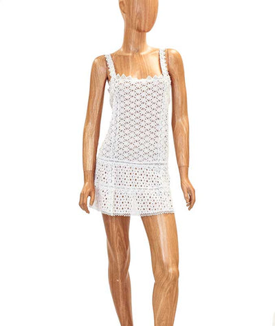 Eyelet Cover Up Mini Dress