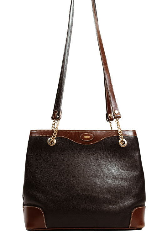 Black and Tan Leather Purse