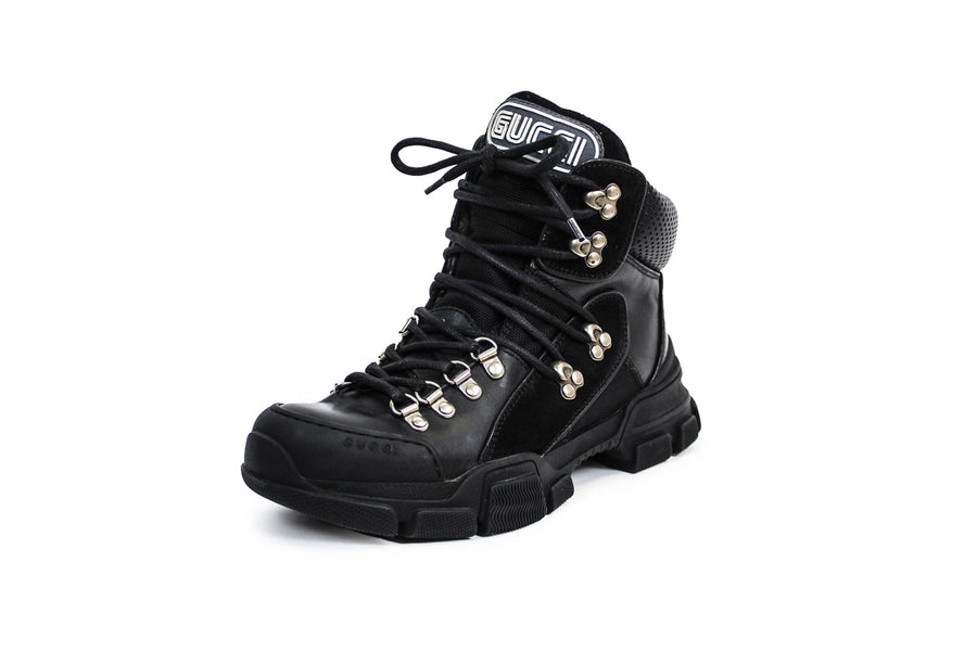 Gucci Flashtrek Leather-Lined Combat Boots