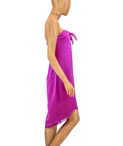Front Tie Knot Knee Length Dress