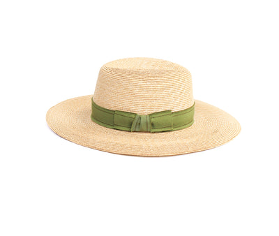 Wide Brim Straw Fedora