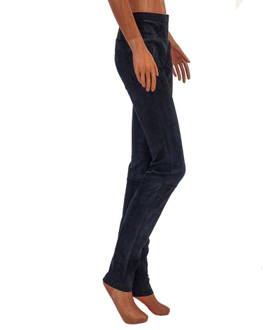 Leather Mid-Rise Skinny Pants