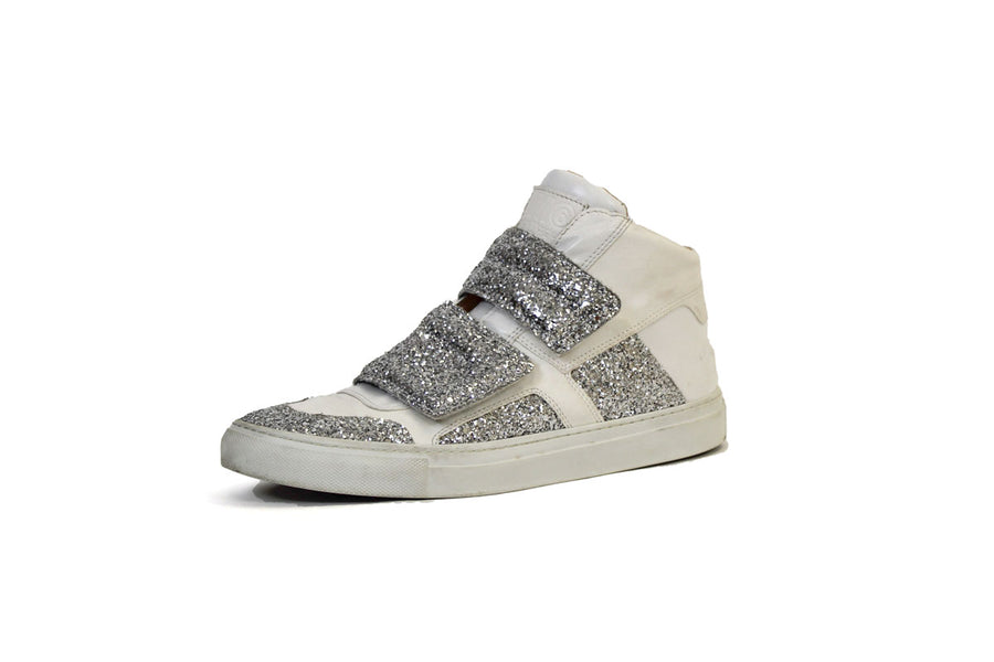 MM6 Glitter High Top Sneakers