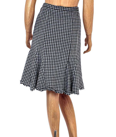 Houndstooth Trumpet Flare Skirt