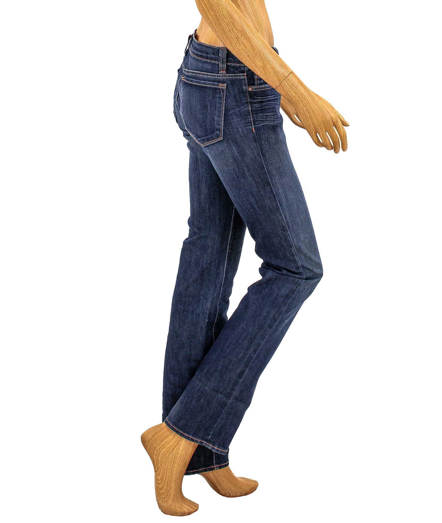 Low Rise Straight Leg Jeans