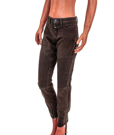 Mid-Rise Moto Jeans