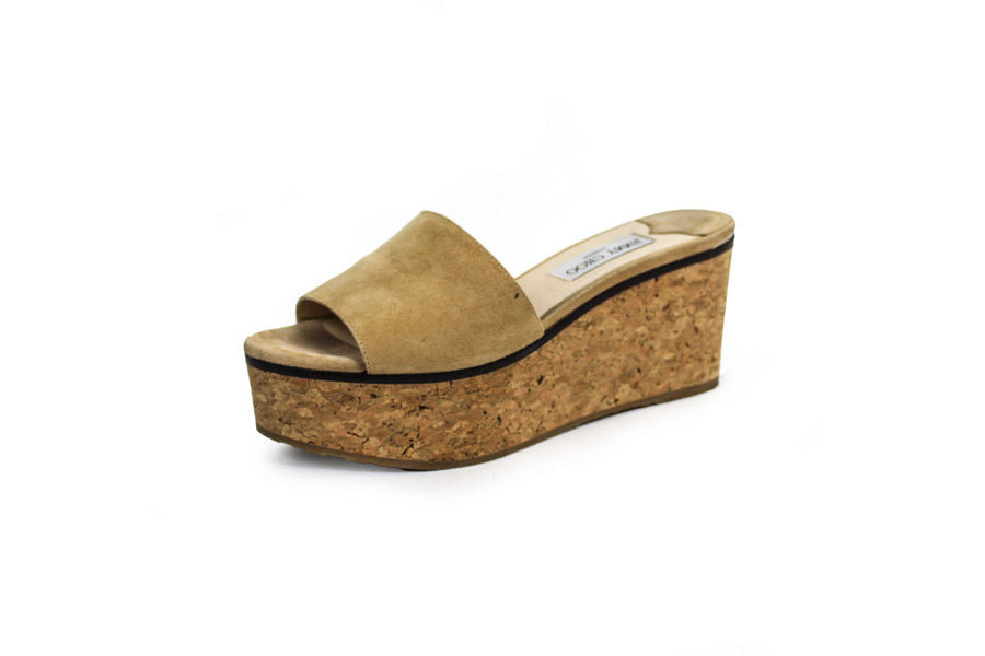 """Deedee"" Suede Slide Platform Sandals"