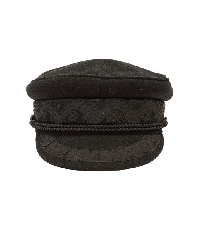 Riviera Newsboy Cap in Black