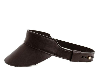 Huntington Leather Visor in Black