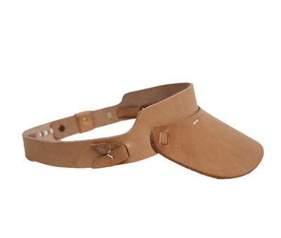 Cambria Leather Visor in Light Tan
