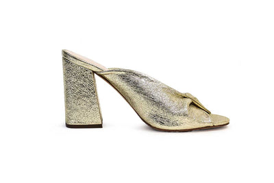 "Champagne Foiled ""Laurel"" Heels"