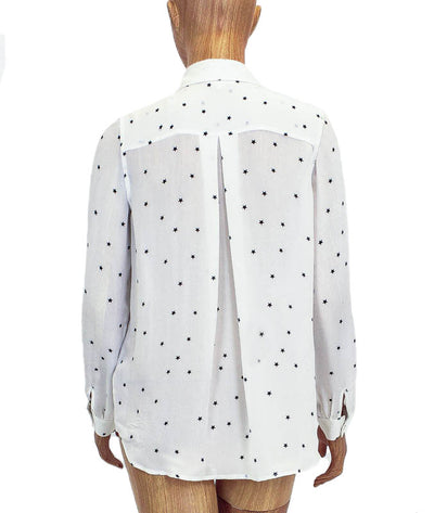Silk Star Button Down Top