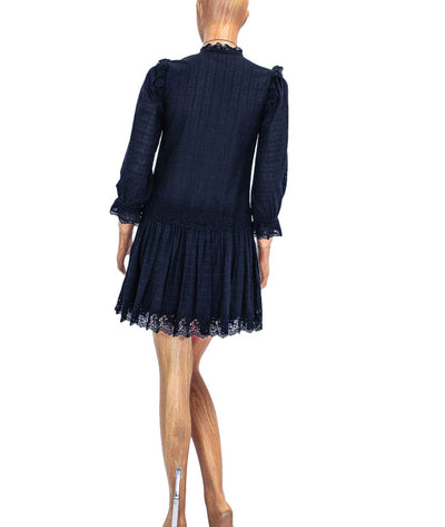 Long Sleeve Cotton Mini Dress