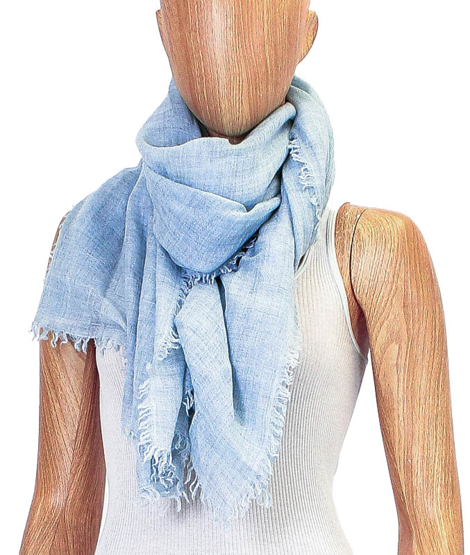 Fringe Trim Rectangle Scarf