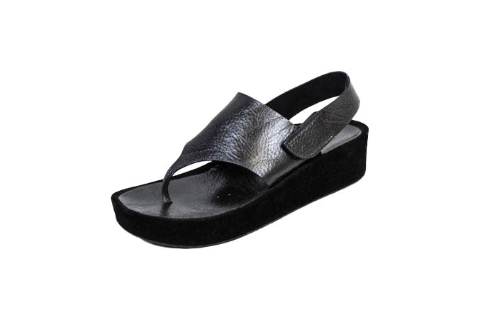 Platform Leather Thong Sandals