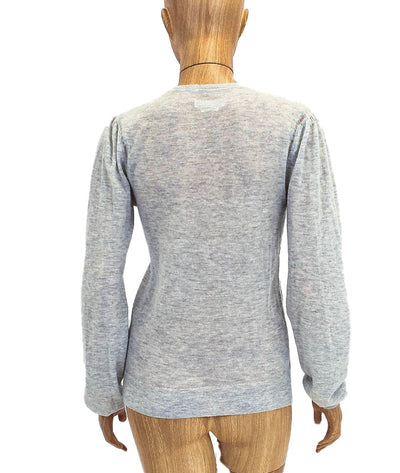 Long Sleeve Crew Neck Distressed Sweater