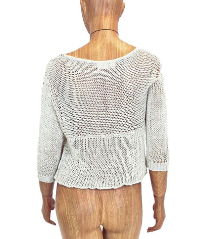 Woven Quarter Sleeve Top