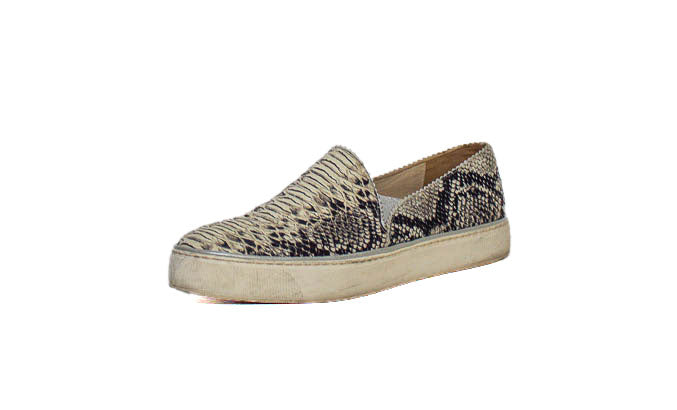Faux Python Slip On Sneakers