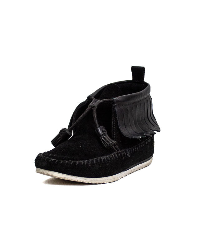 Black High Top Moccasin