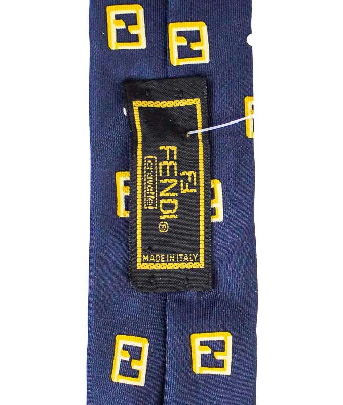 Navy and Gold Silk Tie