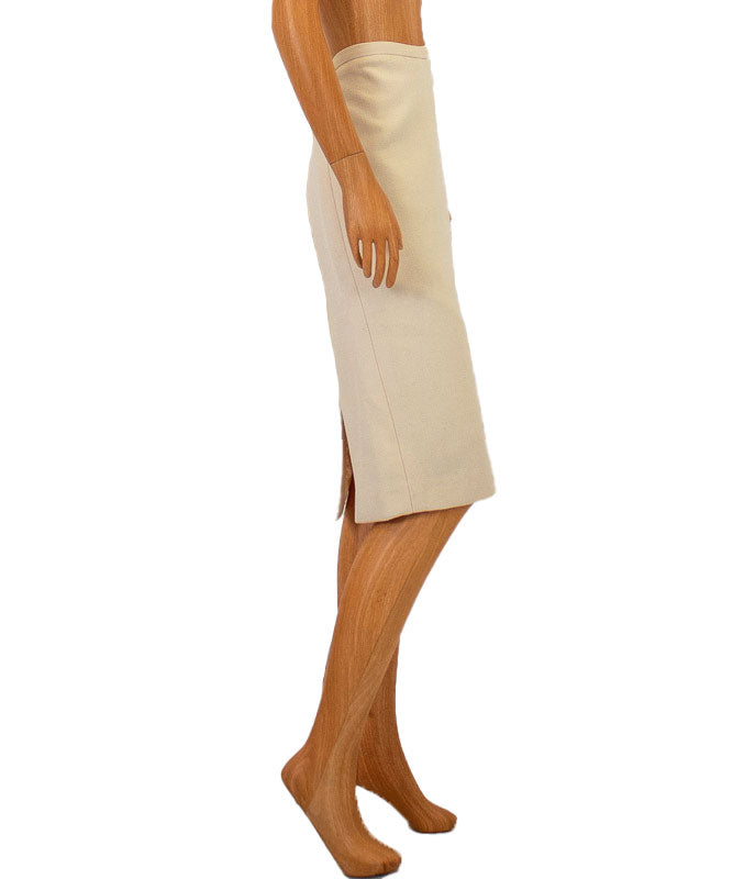 Double Slit Pencil Skirt