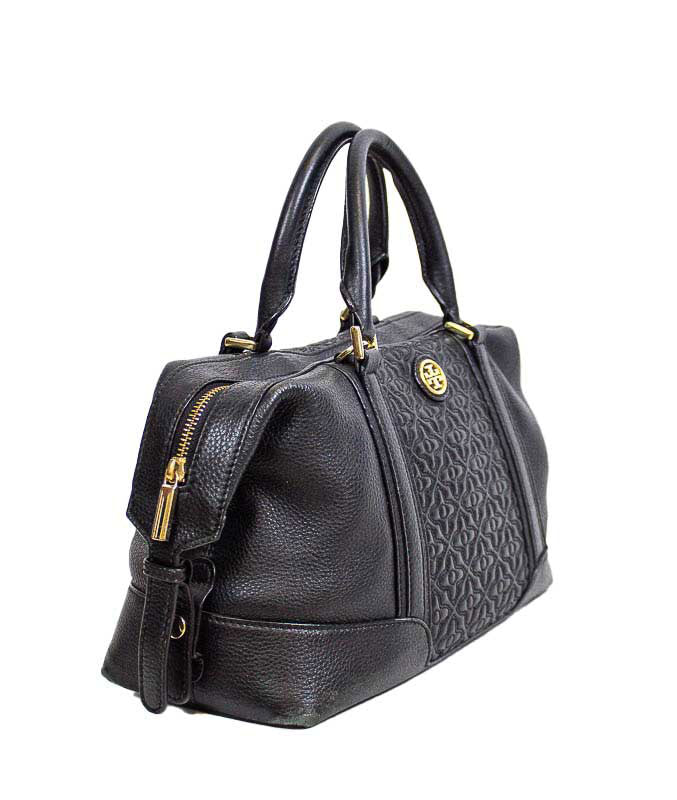 Black Textured Handbag