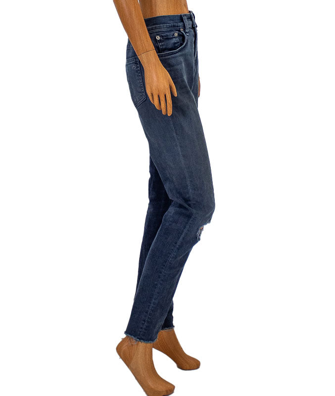 """High Rise Ankle Skinny"" Jeans"