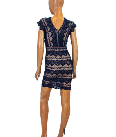 Navy Lace Bodycon Dress