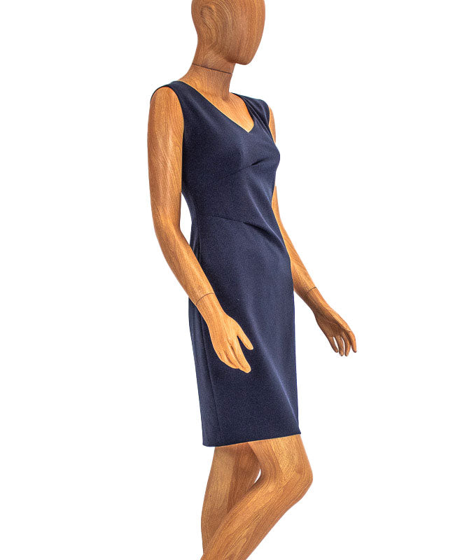 Navy Sleeveless Sheath Dress