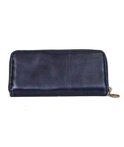 Navy Leather Continental Wallet
