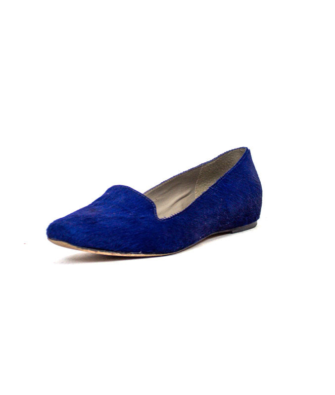 Blue Mohair Loafers