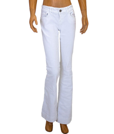 """Love Story"" White Flared Jeans"