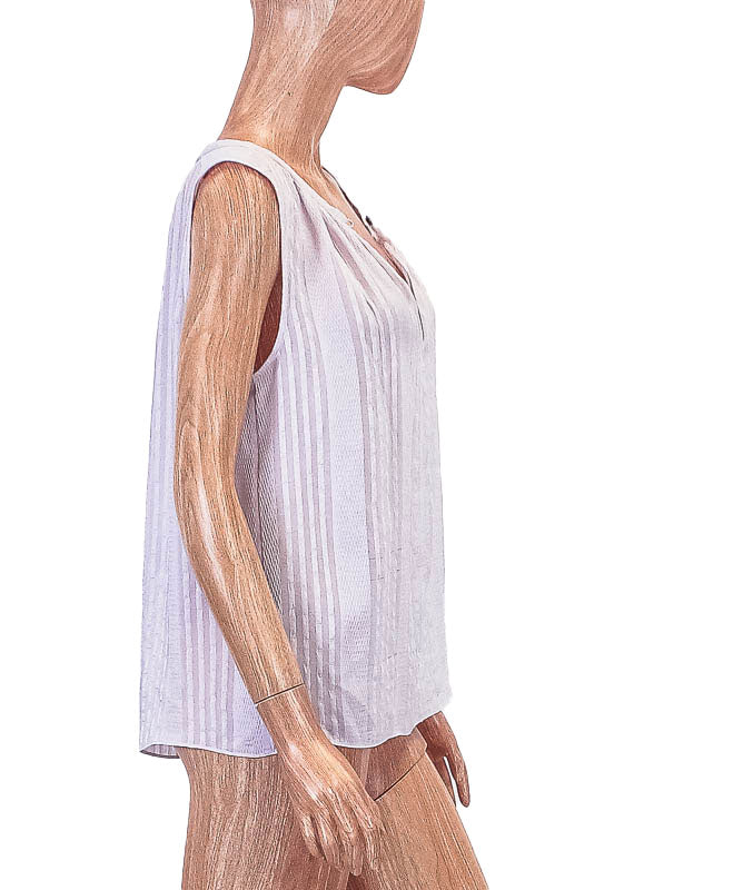 Semi-Sheer Sleeveless Blouse