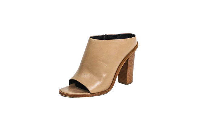 Peep Toe High Heel Mule