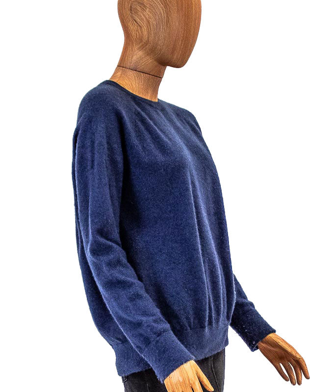 Blue Cashmere Pullover Sweater