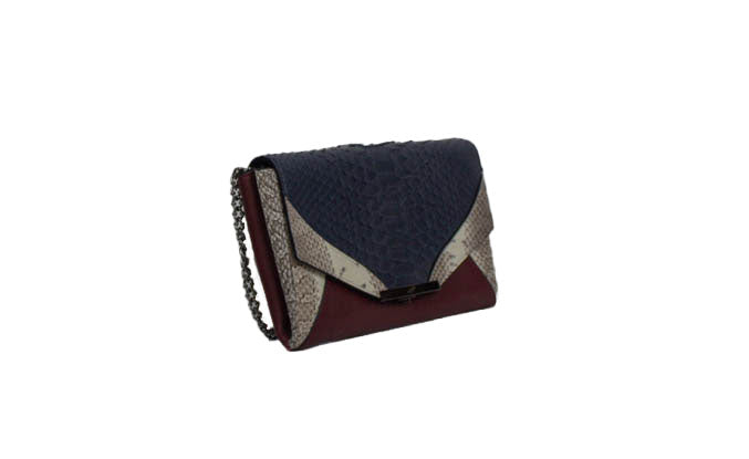 """Roya Envelope Clutch"" Snakeskin Bag"