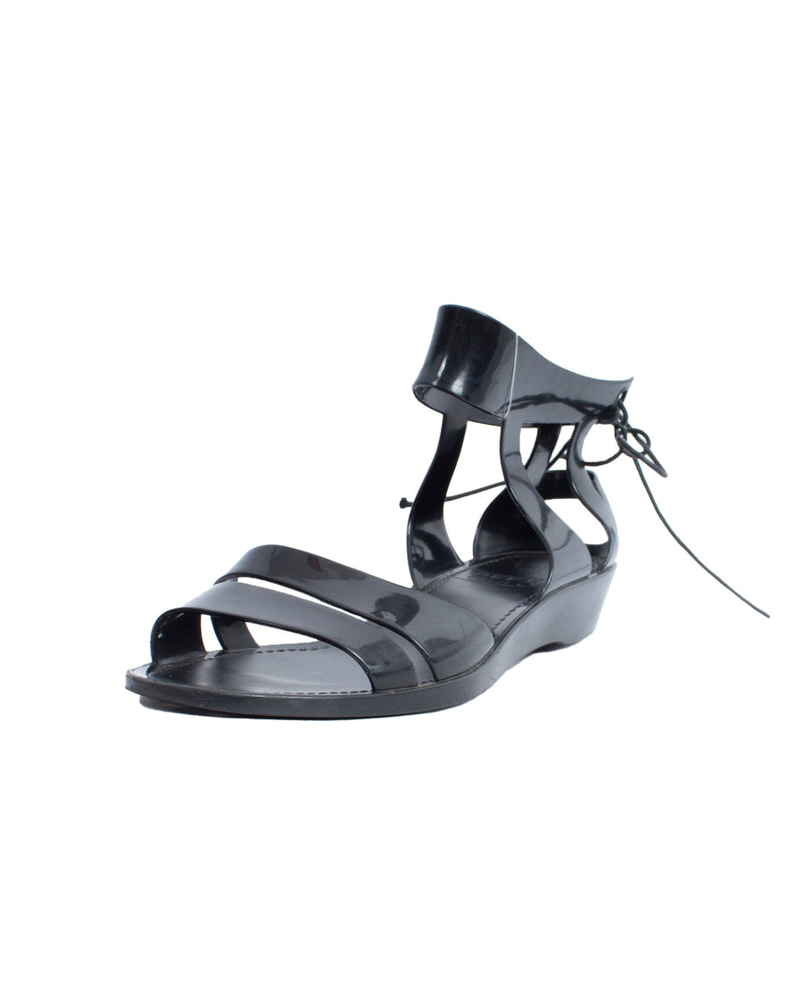 Black Rubber Sandals