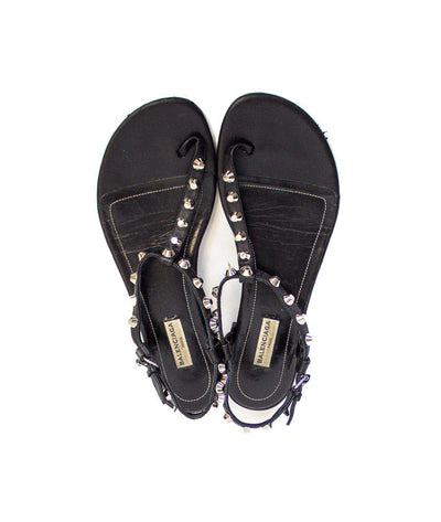 Studded T-Strap Sandals