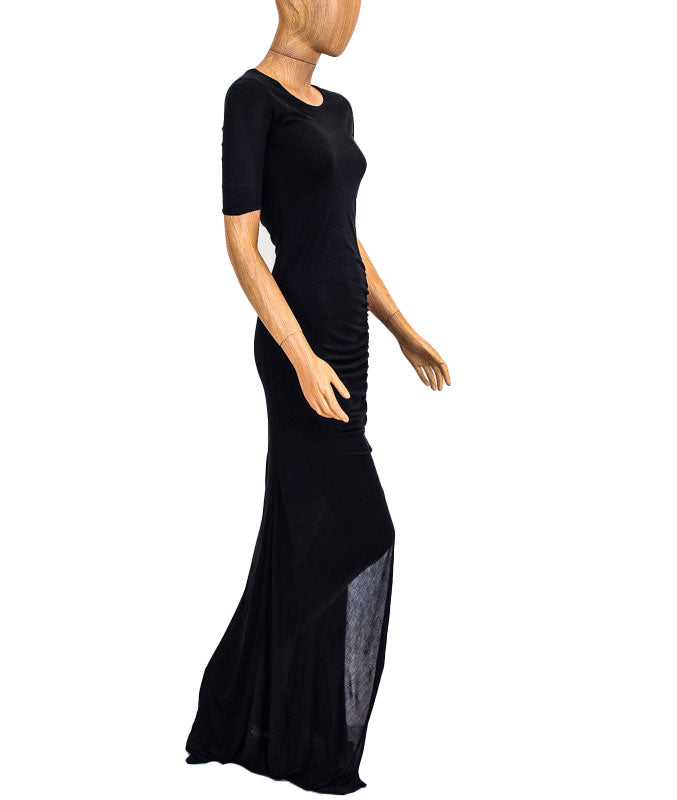 A.L.C. Fitted Black Maxi Dress