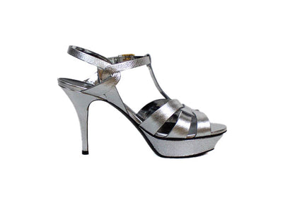 "Metallic ""Tribute"" Platform Heels"