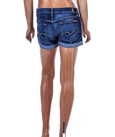 Mid-Rise Cuffed Shorts