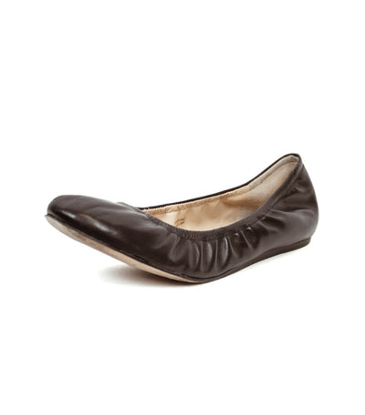 Lillian Black Leather Flats